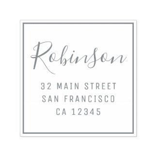 Design Your Own Custom Family Name Return Address Self-inking Stamp