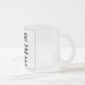 Design Your Own Custom Gift - Blank Frosted Glass Coffee Mug