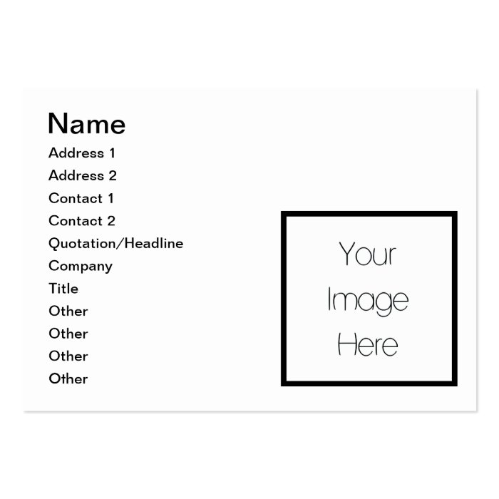 Design Your Own Custom Gift - Blank Large Business Card
