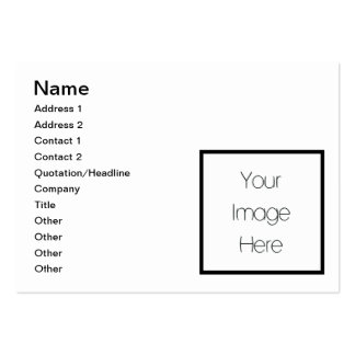 Design Your Own Custom Gift - Blank Large Business Cards (Pack Of 100)
