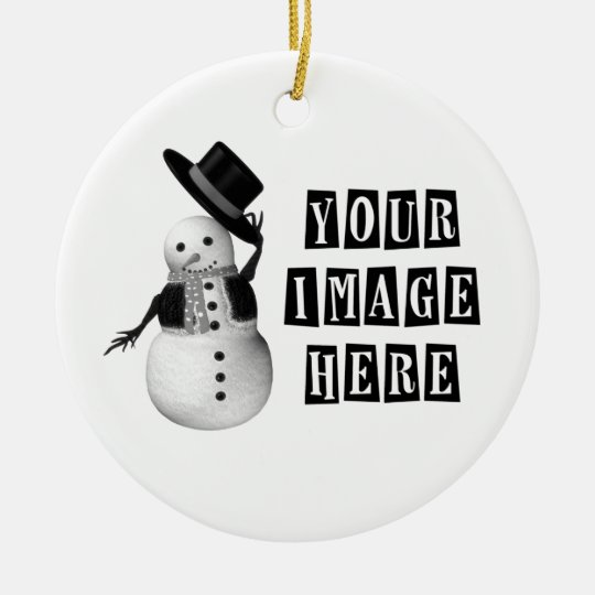 DESIGN YOUR OWN CUSTOM HOLIDAY GIFT CERAMIC ORNAMENT