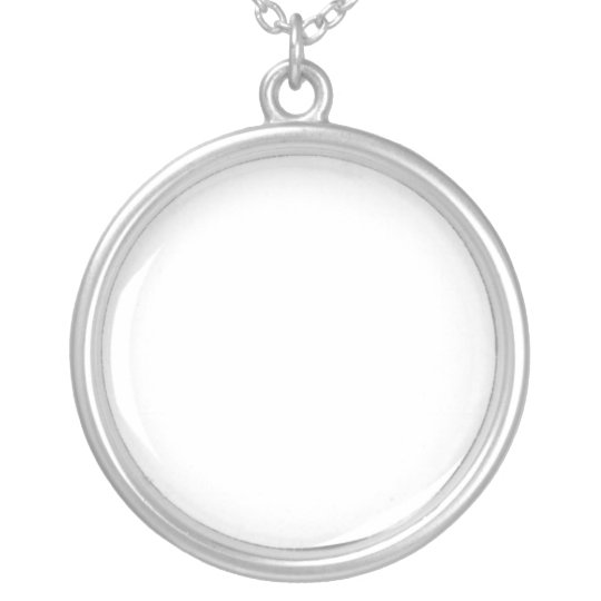 Design your own custom pendant round silver neck silver plated design your own custom pendant round silver neck silver plated necklace aloadofball Choice Image