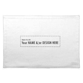 Design Your Own Custom Personalize Name Design Cloth Placemat