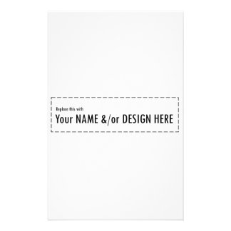 Design Your Own Custom Personalize Name Design Stationery