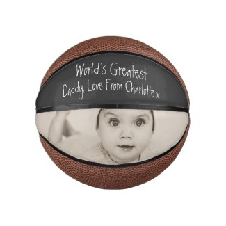 Design Your Own Custom Personalized Fathers Day Mini Basketball