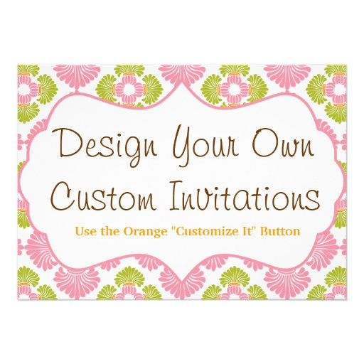 "Design Your Own Custom Personalized Invitations 5"" X 7"