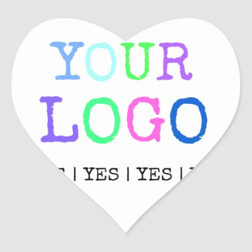 Design Your Own Custom Personalized Logo Heart Sticker