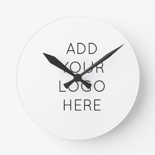 Design Your Own Custom Personalized Logo Image Round Wall Clock