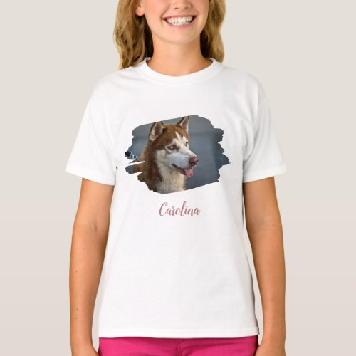 Design Your Own Custom Photo Add Name Horz Picture T_Shirt