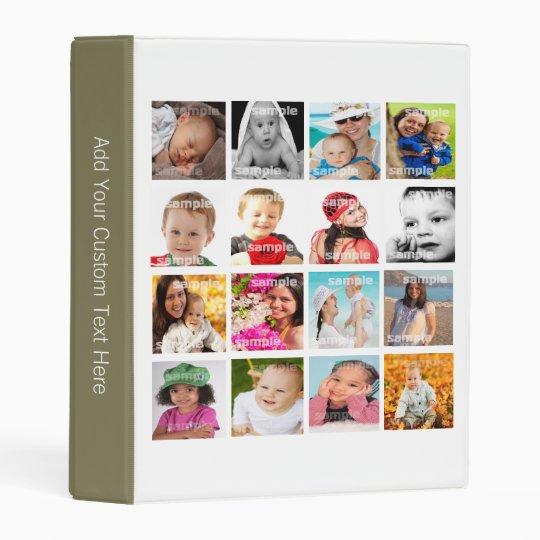 design your own custom photo collage mini binder zazzle com