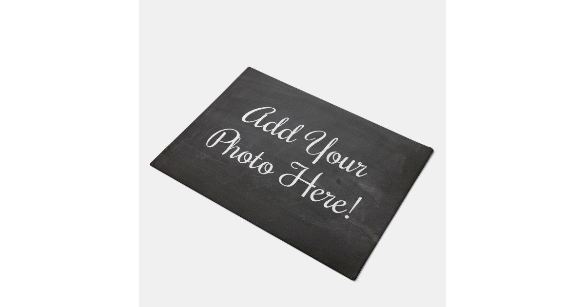 Design your own custom photo door mat zazzle for Design your own door