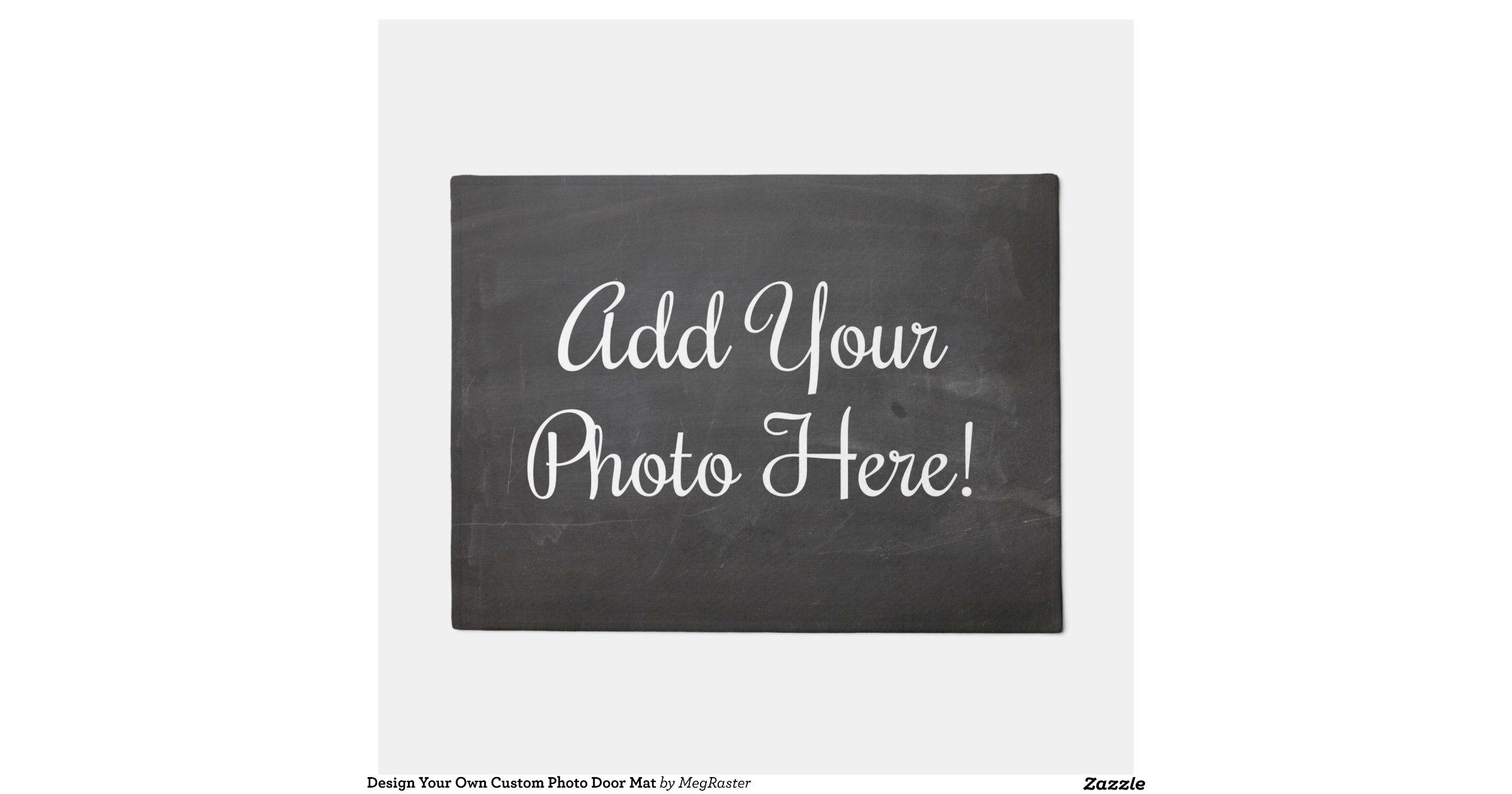 Design your own custom photo door mat doormat for Design your own door