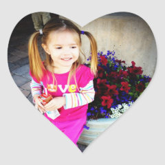 Design your own Custom Photo Stickers Heart Shaped