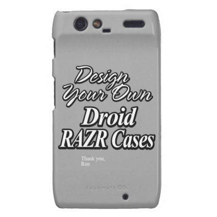 Design Your Own Droid RAZR Cases