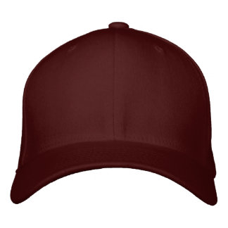 Design Your Own Embroidered Cap - Maroon Embroidered Baseball Caps