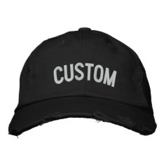 Design Your Own Embroidered Hat at Zazzle