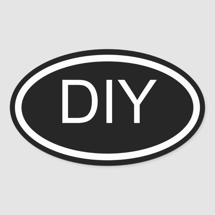 design your own euro style oval sticker zazzle. Black Bedroom Furniture Sets. Home Design Ideas