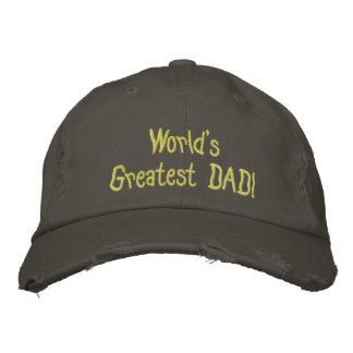 Design Your Own Fathers Day Baseball Destroyed Cap
