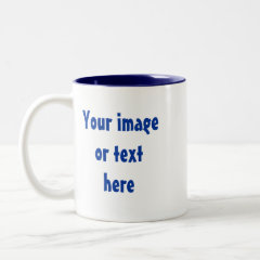 Design Your Own Father's Day Mug - Blue White zazzle_mug