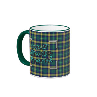 DESIGN YOUR OWN! Green Flannel Plaid Photo Mug