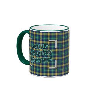 DESIGN YOUR OWN! Green Flannel Plaid Photo Mug