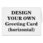 Design Your Own Greeting Card (horizontal)