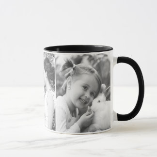Design your own horizontal black and white photo mug