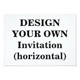 Design Your Own Invitation (horizontal)