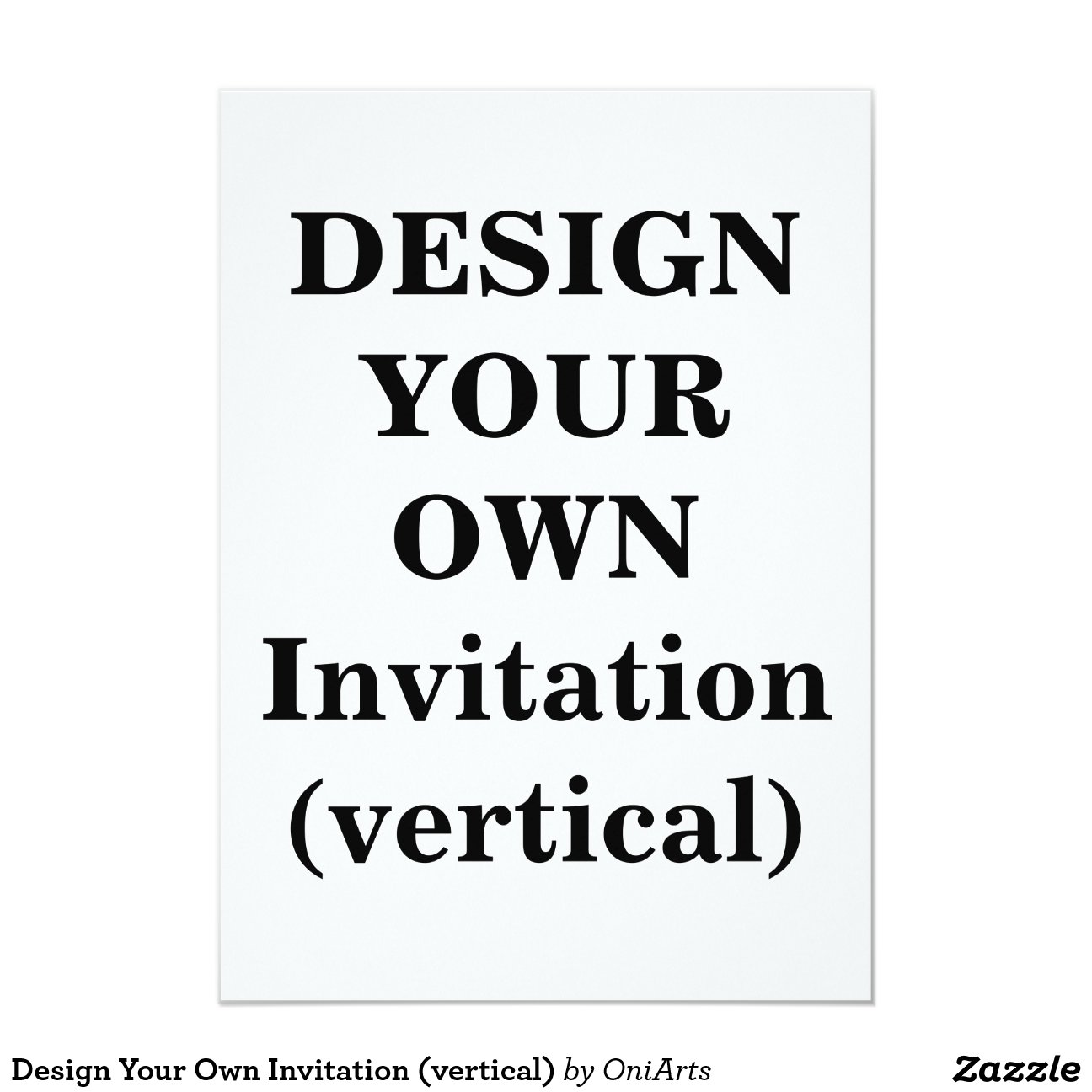 design your own invitation vertical