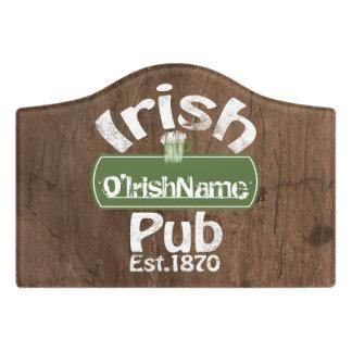 Design Your Own Irish Pub Personalized Door Sign
