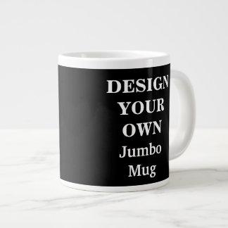 Design Your Own Jumbo Mug - Black 20 Oz Large Ceramic Coffee Mug