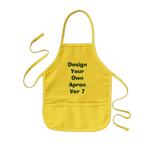 Design Your Own Kids Apron Yellow and Green Ver7