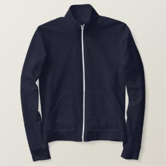 Design Your Own Ladies AA Navy Blue Fleece Zip Jog Embroidered Jacket