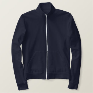 Design Your Own Ladies Track Jacket - Navy Blue