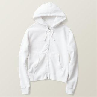 Design Your Own Ladies White Zip Hoodie