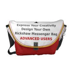 Design Your Own Messenger Bag Advanced Creative at Zazzle