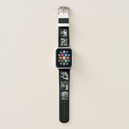 Design Your Own Modern 5-Photo Collage Apple Watch Band