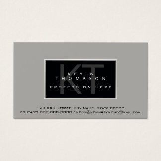 design your own modern profissional standard business card