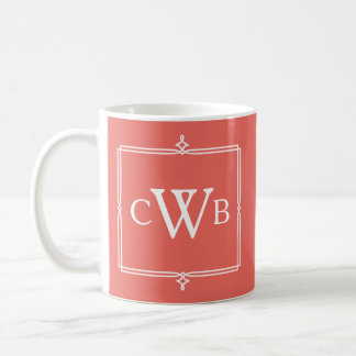 Design Your Own Monogram Customizable Color Hue Coffee Mug