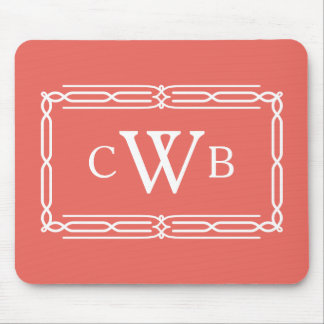 Design Your Own Monogram Customizable Color Hue Mouse Pad