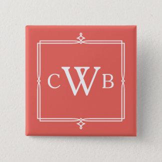 Design Your Own Monogram Customizable Color Hue Pinback Button