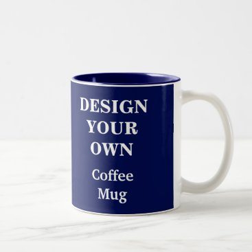 Coffee Themed Design Your Own Mug - Blue