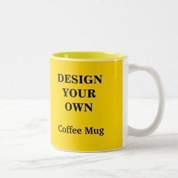 Coffee Themed Design Your Own Mug - Yellow