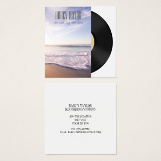 Design Your Own Music Album Cover Square Business Card