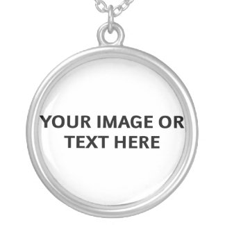 Design Your Own Necklace (Round Pendant)
