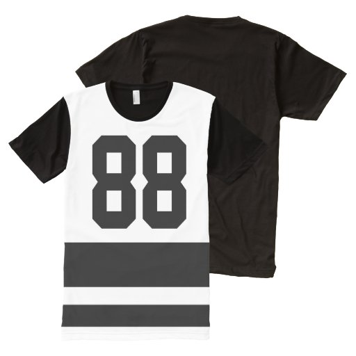 Design Your Own Numbers All Over Print T Shirt Zazzle