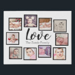 "Design Your Own One of a Kind 10 Photo Family Faux Canvas Print<br><div class=""desc"">Easy make your own custom 10 photo template created by you personalized wall art - Faux Wrapped Canvas Print from Ricaso - add your own photographs and text to this great faux canvas</div>"