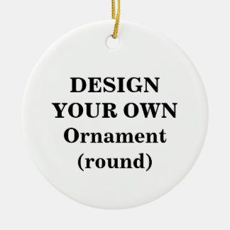 Design Your Own Ornament round