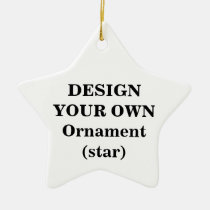 create, your, own, ornament, star, make, design, template, Ornament with custom graphic design