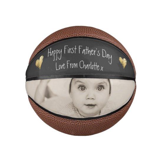Design Your Own Personalized First Fathers Day Basketball